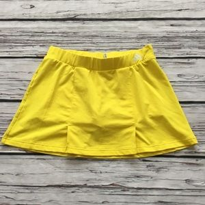 Adidas Women's Tennis Skort Yellow Athletic SZ S